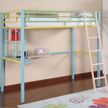 Powell Sunday Funnies Metal Loft Bed
