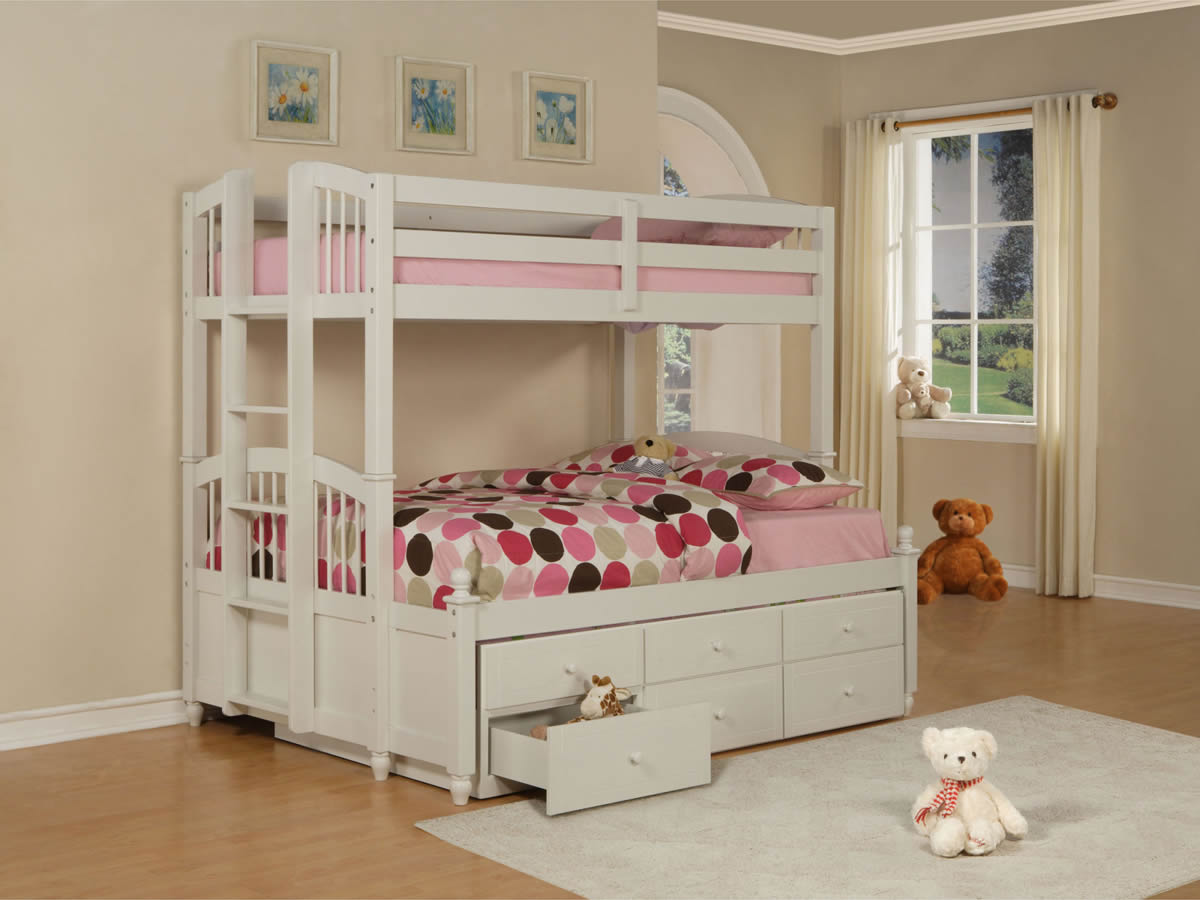 Powell May Twin Over Twin White Bunk Bed