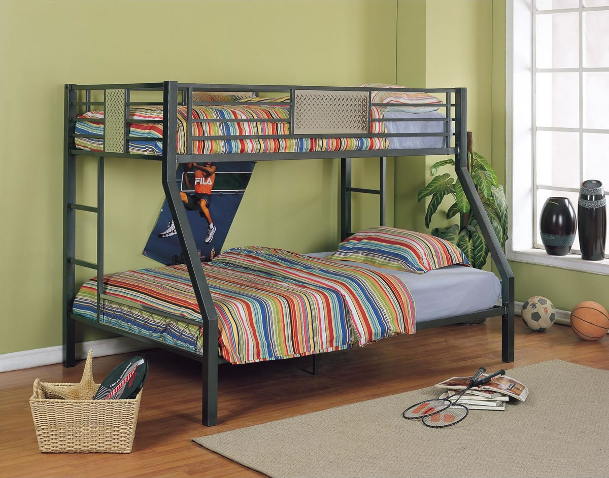 Powell Monster Bedroom Twin over Full Metal Bunk Bed