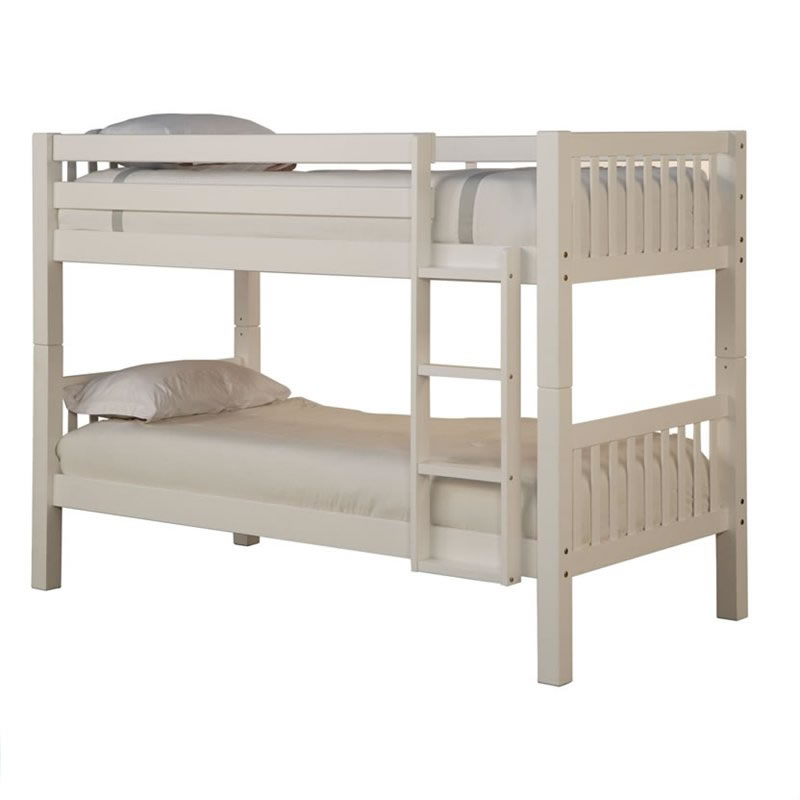 Powell White Twin Bedroom In A Box: Powell White Twin Over Twin Bunk Bed
