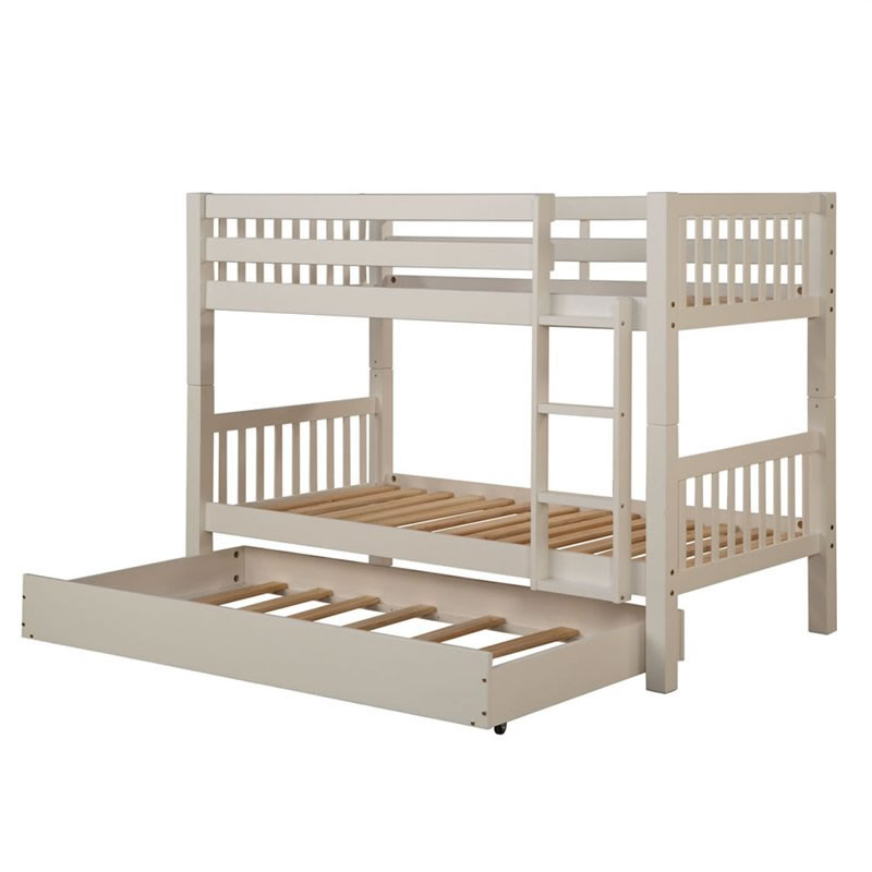 Powell White Twin Over Twin Bunk Bed