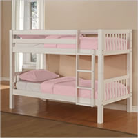 Powell White Bunk Bed