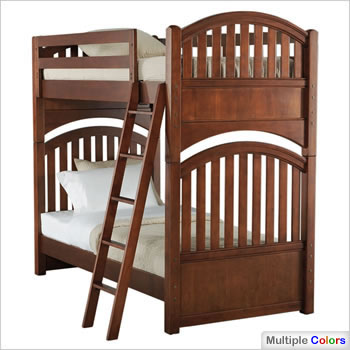 Young America All Seasons Serenity Twin Bunk Bed in Cinnamon