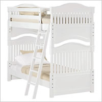Young America Hampton Pointe Twin Bunk Bed in Piano Key